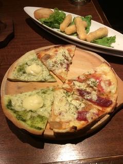 ピザとチーズ揚げ